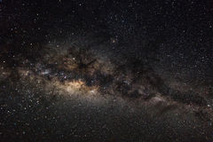 Deep space background with stardust and shining star. Milky way Royalty Free Stock Photography