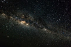 Deep space background with stardust and shining star. Milky way Stock Photo