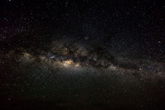 Deep space background with stardust and shining star. Milky way Stock Photos