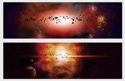 Free Deep Space Banners Royalty Free Stock Photos - 177434048