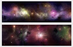 Free Deep Space Banners Royalty Free Stock Image - 177434166