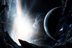 Deep space beauty. Planet orbit. royalty free illustration