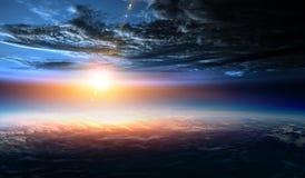 Deep space beauty. Planet orbit. stock illustration