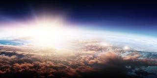 Deep space beauty. Planet orbit. royalty free stock image