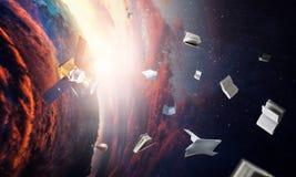Deep space beauty. Planet orbit. vector illustration