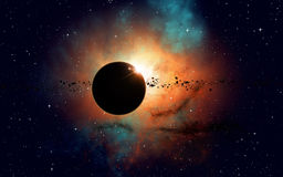 Deep Space Eclipse Royalty Free Stock Photography