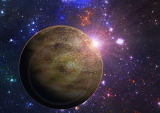 Deep space exoplanet planet illustration Royalty Free Stock Photos