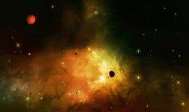 Deep Space Futuristic Background Stock Image