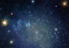 Deep space. High definition star field background Royalty Free Stock Photos