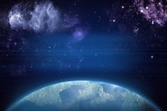 Deep space. High definition star field background Royalty Free Stock Images