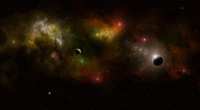 Deep Space Multicolor Star Field Stock Image