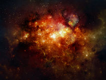 Deep space nebula Stock Image