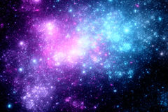 Deep space with nebula Royalty Free Stock Photo