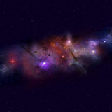 Deep Space Nebula Royalty Free Stock Images