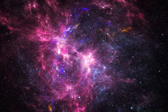 Deep space nebula with stars.  Royalty Free Stock Photo