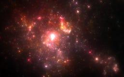 Deep space nebula. With stars stock image