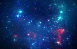 Deep space nebula. With stars royalty free stock photo