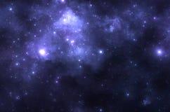 Deep space nebula. With stars royalty free stock image