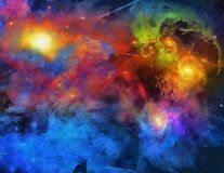 Deep Space Painting Royalty Free Stock Image