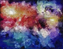 Deep Space Painting. Some elements provided courtesy of NASA Royalty Free Stock Photos