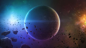 Deep space planet stock illustration