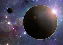 Deep space planets illustration Stock Photos