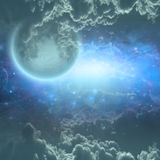 Deep space scene Stock Images