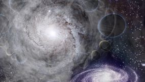 Deep Space. Sci - Fi composition. Deep Space, supernova and bright galaxies royalty free illustration