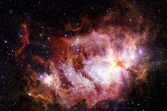 Deep space. Science fiction fantasy in high resolution ideal for wallpaper. Elements of this image furnished by NASA royalty free stock photo