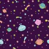 Deep Space Seamless Pattern Vector Illustration Royalty Free Stock Image