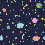 Deep Space Seamless Pattern Vector Illustration Royalty Free Stock Photography