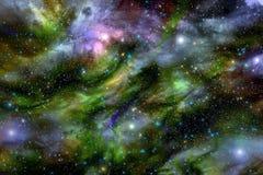 Deep space star nebula background Stock Image