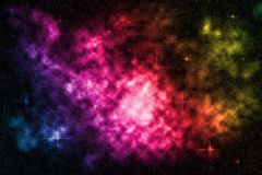 Deep space starfield with colorful nebula, background Royalty Free Stock Image