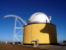 Deep space telescope. Astronomical deep space telescope in the Caucasian mountains Stock Images
