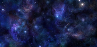 Deep Space wide banner background Stock Images