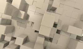 Deep  structur Cube Background Stock Photography