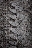 Deep tire tracks on muddy surface Royalty Free Stock Images