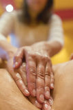 Deep tissue massage at a health and beauty spa royalty free stock images