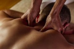 Deep tissue massage Stock Images