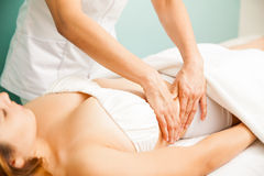 Deep tissue massage at a spa Royalty Free Stock Photo