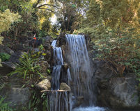 Deep tropical forest waterfall Stock Photo