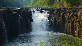 Deep tropical waterfall in Khao Yai National Park, Thailand. Asia stock footage