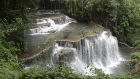 Deep tropical waterfall in Thailand. Deep tropical waterfall in National Park Asia stock video