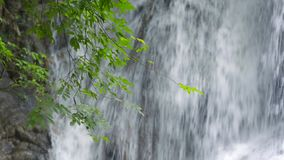 Deep tropical waterfall in Thailand. Deep tropical waterfall in National Park Asia stock footage