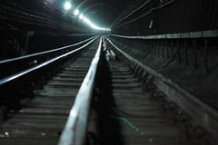 Deep tube tunnel Stock Photos