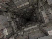 Deep tunnel Stock Image