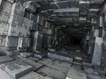 Deep tunnel Stock Photo