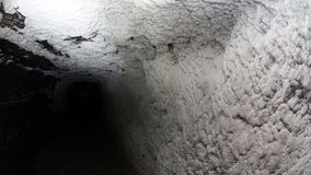Deep tunnel in a salt mine Stock Photos