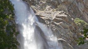 Deep Uchan-su falls on the mountain Ah-Petri in the Crimea stock footage