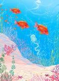 Deep underwater Stock Photography